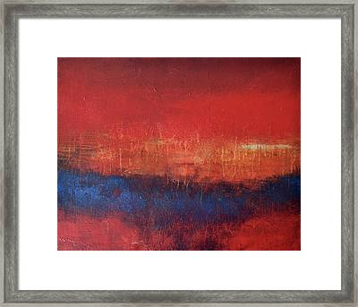 Crimson Sky Framed Print by Filomena Booth