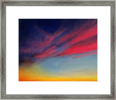 Crimson Sunset II Framed Print by Ruth Sharton