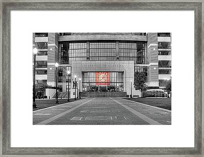 Crimson Tide Football Framed Print by JC Findley
