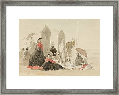 Crinolines And Cabins Framed Print