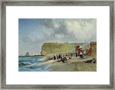 Crinolines On The Beach At Fecamp Framed Print