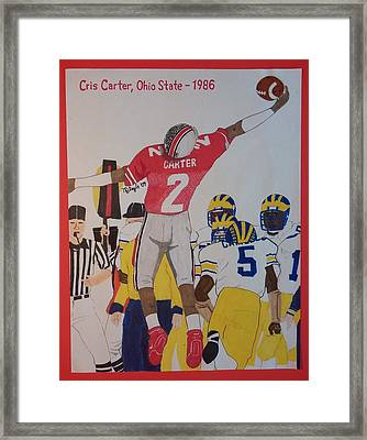 Cris Carter - Ohio State Framed Print by TJ Doyle