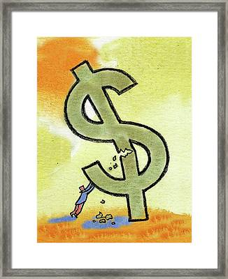 Crisis And Money Framed Print