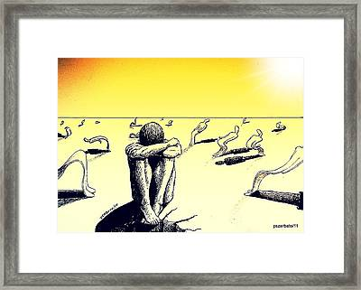 Crisis Of Leader Framed Print
