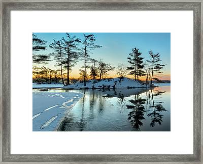 Crisp And Cold Start To The Day Framed Print