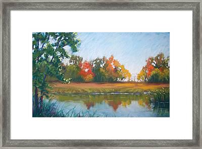 Crisp Autumn Morning Spears Woods Framed Print by Christine Camp