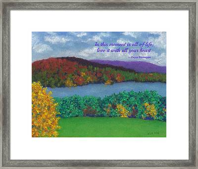 Crisp Kripalu Morning - With Quote Framed Print
