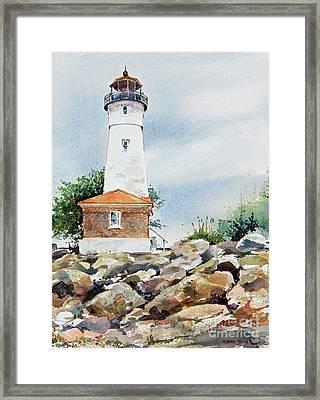 Crisp Lighthouse Framed Print