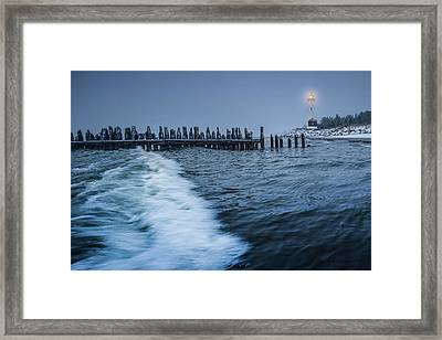 Framed Print featuring the photograph Crisp Point Lighthouse On Lake Superior by Thomas Gaitley