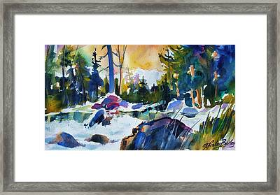 Crisp Snowy Morn Near Tahoe Framed Print by Therese Fowler-Bailey