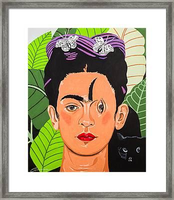 Criss Cross Frida Framed Print