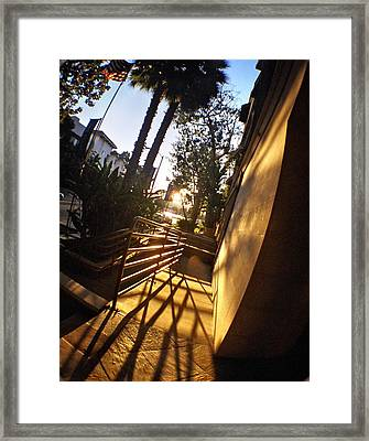 Criss Cross Framed Print by Sarah Le Feber