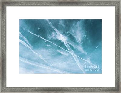 Framed Print featuring the photograph Criss-cross Sky by Colleen Kammerer