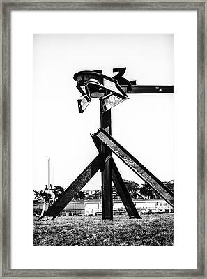 Framed Print featuring the photograph Crissy Field Iron Scuplure by Michael Hope