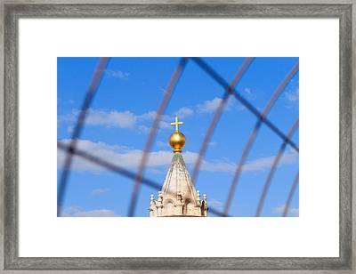 Cristian Cross Framed Print by Davide Guidolin