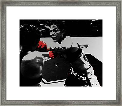 Cristiane Justino Venancio Red Gloves Framed Print by Brian Reaves