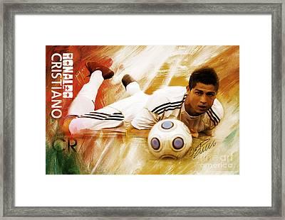 Cristiano Ronaldo 092f Framed Print