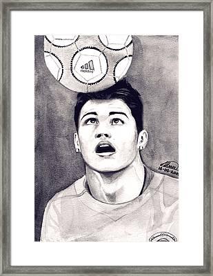 Cristiano Ronaldo Framed Print by Alban Dizdari