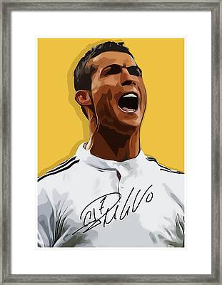 Cristiano Ronaldo Cr7 Framed Print by Semih Yurdabak
