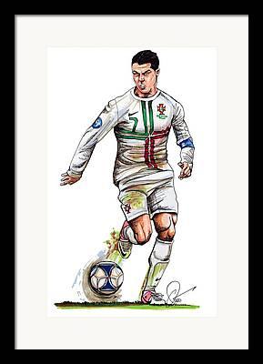 Real Madrid Drawings Framed Prints