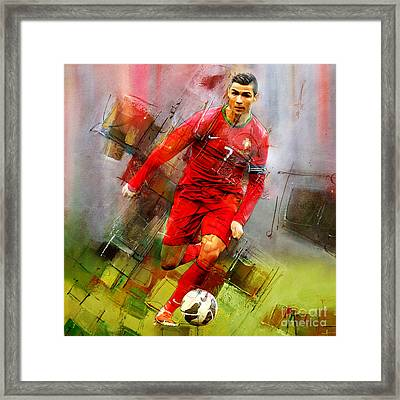 Cristiano Ronaldo  Framed Print by Gull G