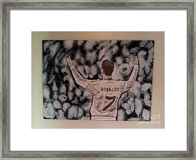 Cristiano Ronaldo Framed Print by Jose Varela