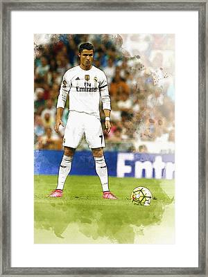 Cristiano Ronaldo Reacts Framed Print