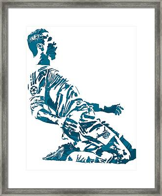 Cristiano Ronaldo Real Madrid Pixel Art 2 Framed Print