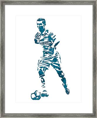 Cristiano Ronaldo Real Madrid Pixel Art 3 Framed Print