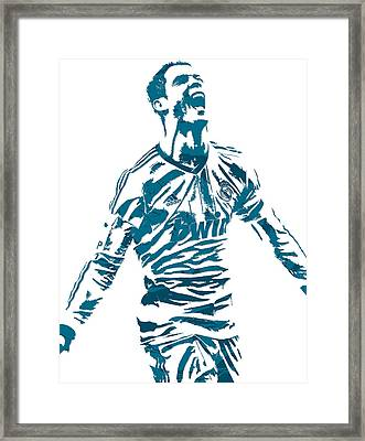 Cristiano Ronaldo Real Madrid Pixel Art 4 Framed Print