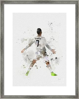 Cristiano Ronaldo Framed Print by Rebecca Jenkins