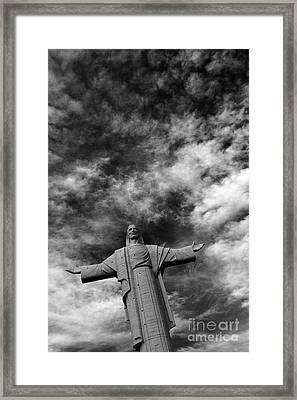 Cristo De La Concordia Cochabamba Framed Print by James Brunker