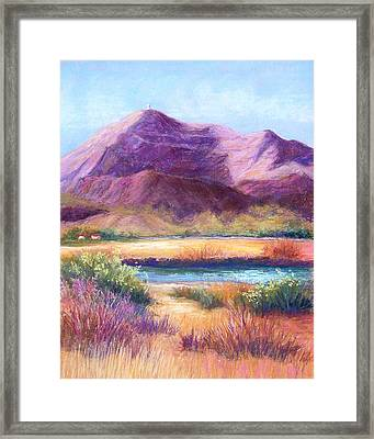 Cristo Rey In Autumn Framed Print by Candy Mayer