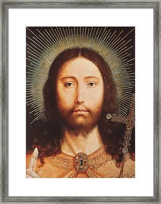 Cristo Salvator Mundi Framed Print by Quentin Massys