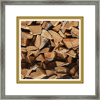 Framed Print featuring the photograph Cutie Critter In The Wood Pile by Jack Pumphrey