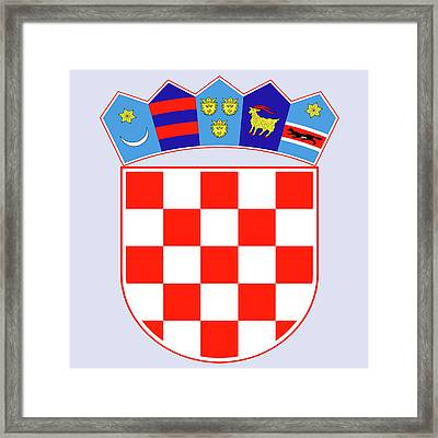 Framed Print featuring the drawing Croatia Coat Of Arms by Movie Poster Prints