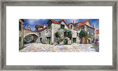 Croatia Dalmacia Square Framed Print by Yuriy  Shevchuk
