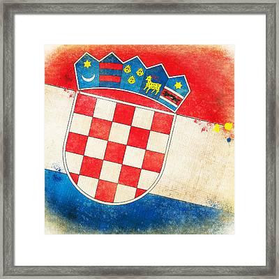 Croatia Flag Framed Print by Setsiri Silapasuwanchai