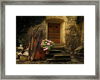 Croatian Stone House Framed Print by Don Wolf