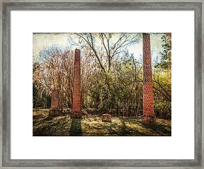 Crocheron Columns Framed Print by Phillip Burrow