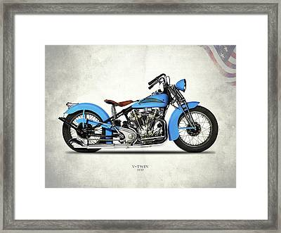 Crocker Hem-head V-twin Framed Print by Mark Rogan