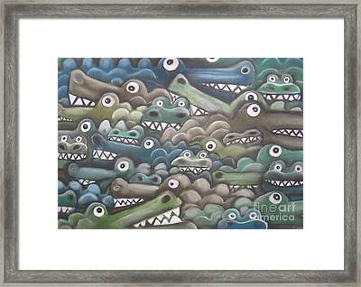 Crocodile Soup Framed Print
