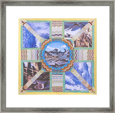 Earth Meets Sky Framed Print by Dinah Jarvis