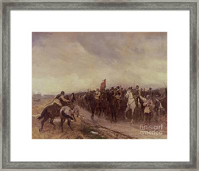 Cromwell At Dunbar Framed Print by Andrew Carrick Gow