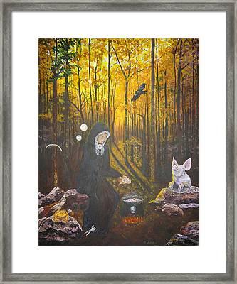 Crone Goddess Keridwen - Samhain Framed Print