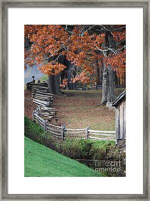 Crooked Fence Framed Print