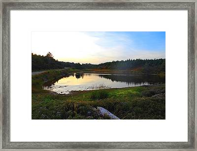 Crooked Lake Road Framed Print by Jason Lees