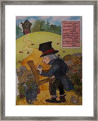 Crooked Man Framed Print by Victoria Heryet