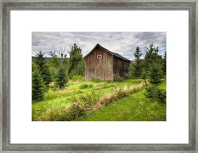 Framed Print featuring the photograph Crooked Old Barn On South 21 - Finger Lakes New York State by Gary Heller