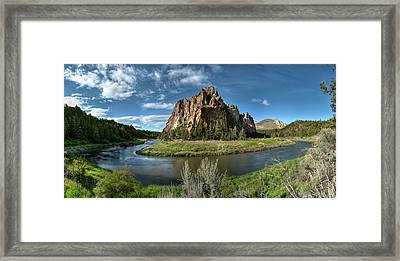 Crooked River And Smith Rock Framed Print